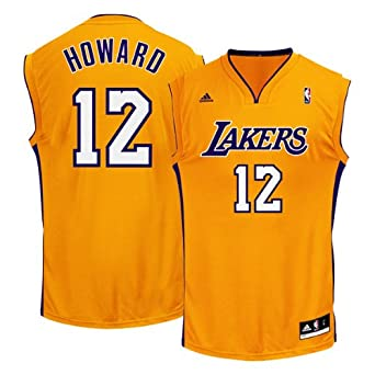 Buy Dwight Howard Los Angeles Lakers Yellow NBA Youth Replica Revolution 30 Jersey by adidas