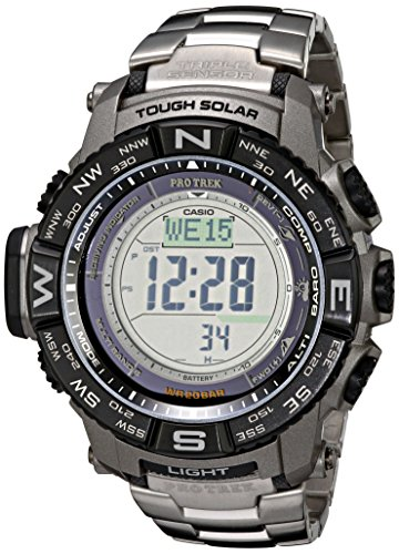 카시오 프로텍 PRW-3500T-7CR 시계 Casio Mens Pro Trek PRW-3500T-7CR Tough Solar Triple Sensor Digital Sport Watch