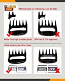 X-Wolver Meat Claws-High Grade Barbeque Meat Handlers - Pulled Pork Claws - Meat Handler- Carving Forks- BBQ Shredding Forks - Extra Durable and Heat Resistant for Easy Shredding and Handling - Set of 2 (Black)
