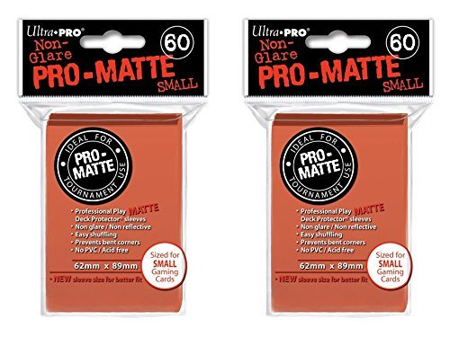 120 Ultra Pro Peach SMALL PRO-MATTE Deck Protectors Sleeves Colors Yugioh Vanguard [2 Packs of 60]