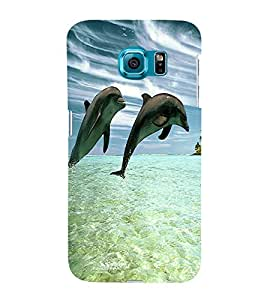 printtech Dolphin Ocean Water Back Case Cover for Samsung Galaxy S6::Samsung Galaxy S6 G920