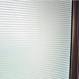 Bason Classic Stripe Frosted Window Film