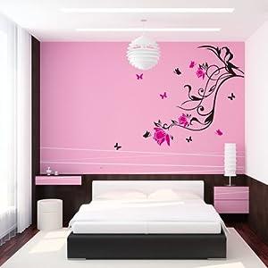 Pegatina adhesivo vinilo decorativo pared letras flor for Adhesivos para dormitorios
