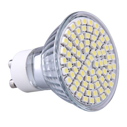 Sodial(R) Gu10 Pure White 80 Smd Led Home Office Spot Light Bulb Lamp Spotlight 230V 4W