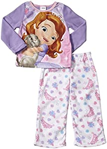 Disney Junior Big Girls' Sofia the First 2 Piece PJ Set (Toddler/Kid) - Sofia 4 - 8