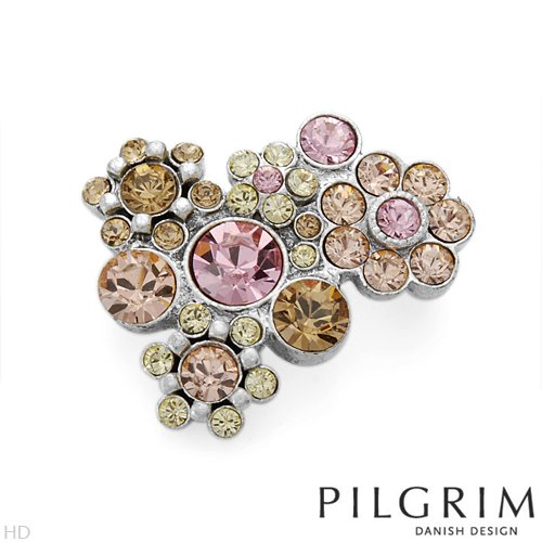 PILGRIM Skanderborg, Denmark Crystal Ladies Brooch. Length 28.0 mm. Total Item weight 7.7 g.