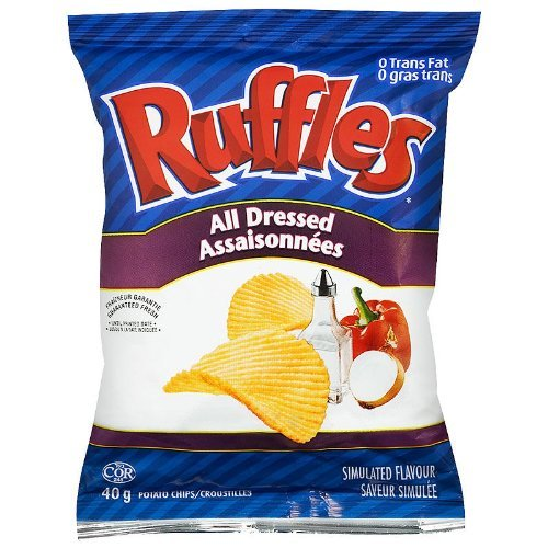 Ruffles All Dressed 48x40g {Imported from Canada} (Lays Canada compare prices)