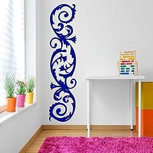 DeStudio Corner Curves Chalkboard Wall Decal, Size XXX Large & Color : BLUE