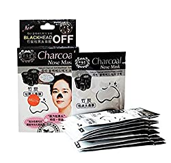Charcoal Nose Mask Deep Cleansing Blackhead Remover Pore Refining (10 Pouches)