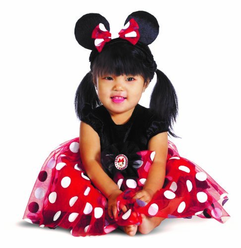 [Disguise My First Disney Red Minnie Costume, Black/Red/White, 12-18 Months Color: Black/Red/White Size: 12-18 Months Model:] (Infant Red Minnie My First Disney Costumes)