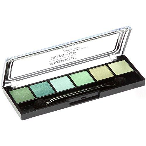 Palette Maquillage - 6 Fards Ombres à Paupières Camaieu Vert