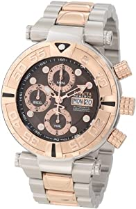 Invicta Men's 10484 Subaqua Reserve Automatic Chronograph Brown Dial Two Tone Stainless Steel Watch