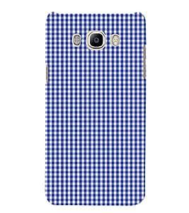 Blue Checks Pattern Cute Fashion 3D Hard Polycarbonate Designer Back Case Cover for Samsung Galaxy J5 2016 :: Samsung Galaxy J5 2016 J510F :: Samsung Galaxy J5 2016 J510FN J510G J510Y J510M :: Samsung Galaxy J5 Duos 2016