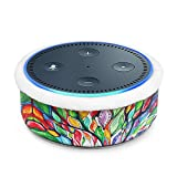 Fintie Protective Case for Amazon Echo Dot (Fits all-new Echo Dot 2nd Generation) - Premium Vegan Leather Sleeve Cover Plush Lined Holder Stand, Love Tree