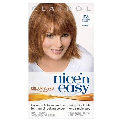 Clairol Nice'n'Easy Hair Colourant 108 Natural Golden Auburn