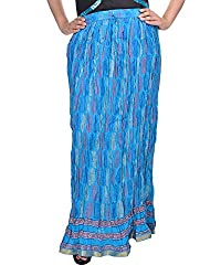 Soundarya Women's Cotton Long Skirt(RSGPS5, 38, Turquoise)
