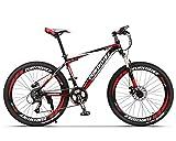KINGTTU GTR 自転車 マウンテンバイク MTB 27.5インチマウンテンバイク アルミフレーム シマノ21段変速 ディスクブレ-キ (赤いと黒い) [並行輸入品]
