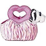 Aurora World Fancy Pals Plush Toy Pet Carrier, White Tiger Jungle Love