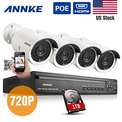 Sale!! Annke® 4CH 720P HD POE NVR Security Camera System Night Vision IP Surveillance Camera Kit CC...