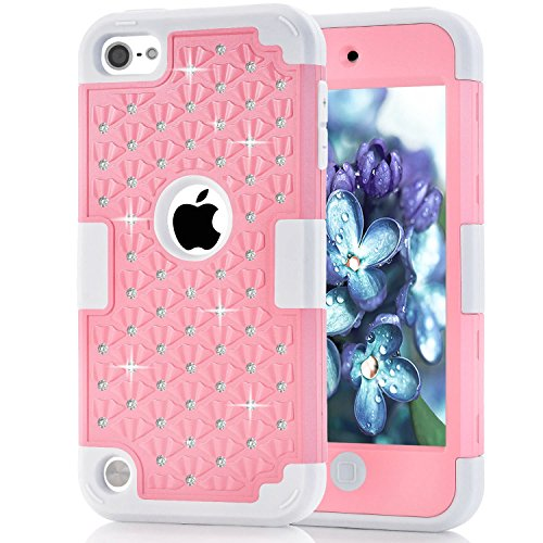 iPod Touch 5 Case, iPod Touch 6 Case, Anna Shop Diamond design 3in1 Combo Hard Shell Soft Silicone Plastic Hybrid Shockproof&Drop Resistance Protective Anti-slip Cover for Apple iPod Touch 5 6 (Iphone5 Jelly Case compare prices)