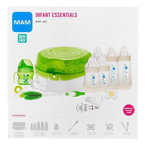 Mam Infant Essentials Baby Bottle Feeding Gift Set front-960090