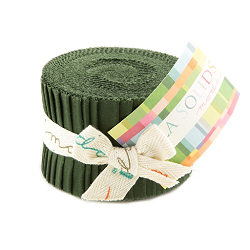 Bella Solids Pine Jr Jelly Roll (9900JJR 43) by Moda House Designer for Moda (Jelly Rolls Green compare prices)