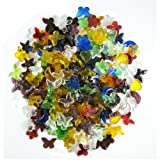 Jennifers Mosaics 2-Pound Mega Mix Glass Charmers, Assorted Colors