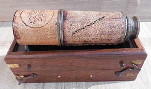 16 Inch Brass Ship Telescope with Rose Wood Box.C-3218