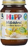 Hipp Grießbrei Banane 190 g, 12er Pack (12 x 190 g) - Bio