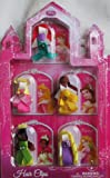 Disney Princess Ribbon Hair Clips - Ariel, Aurora, Belle, Rapunzel, Tiana