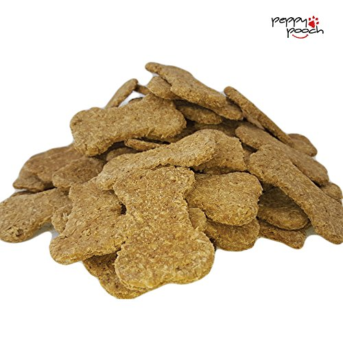 Peppy Pooch All Natural Dog Biscuits, Hand Made In USA, No Preservatives, Great Beer Grain & Peanut Butter Taste, 2 lb Pack, Delicious Unique Crunchy Treats. Make Your Dogs Day