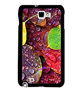 Fuson Premium 2D Back Case Cover Dew drops on leaves With grey Background Degined For Samsung Galaxy Note 2::Samsung Galaxy Note 2 N7100