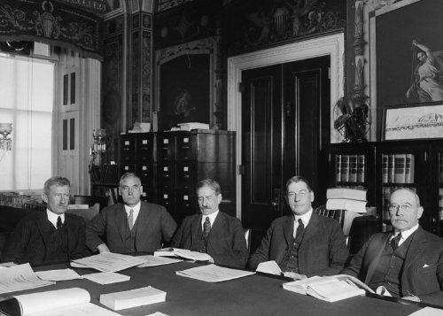 1924 photo Hearing before Senate Naval Affairs Committee, 12/29/24