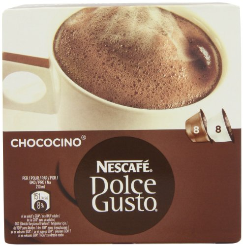 Shop for Nescafé Dolce Gusto Chococino 16 Capsules, 8 servings (Pack of 3, Total 48 Capsules/hot drinking  chocolate pods, 24 servings) - Nestle