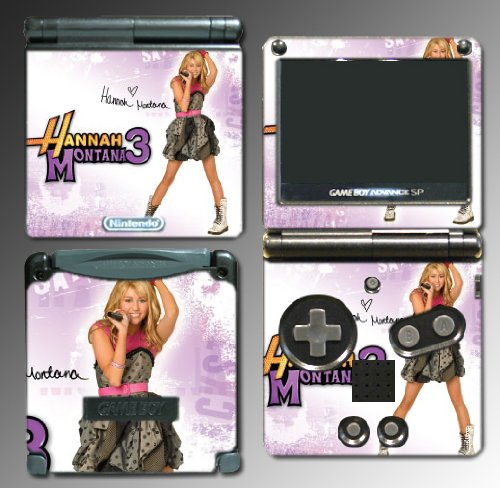 Gamerz Skinz Hannah Montana Miley Cyrus Game Vinyl Decal Skin Protector Cover 14 For Nintendo Gba Sp Gameboy Advance