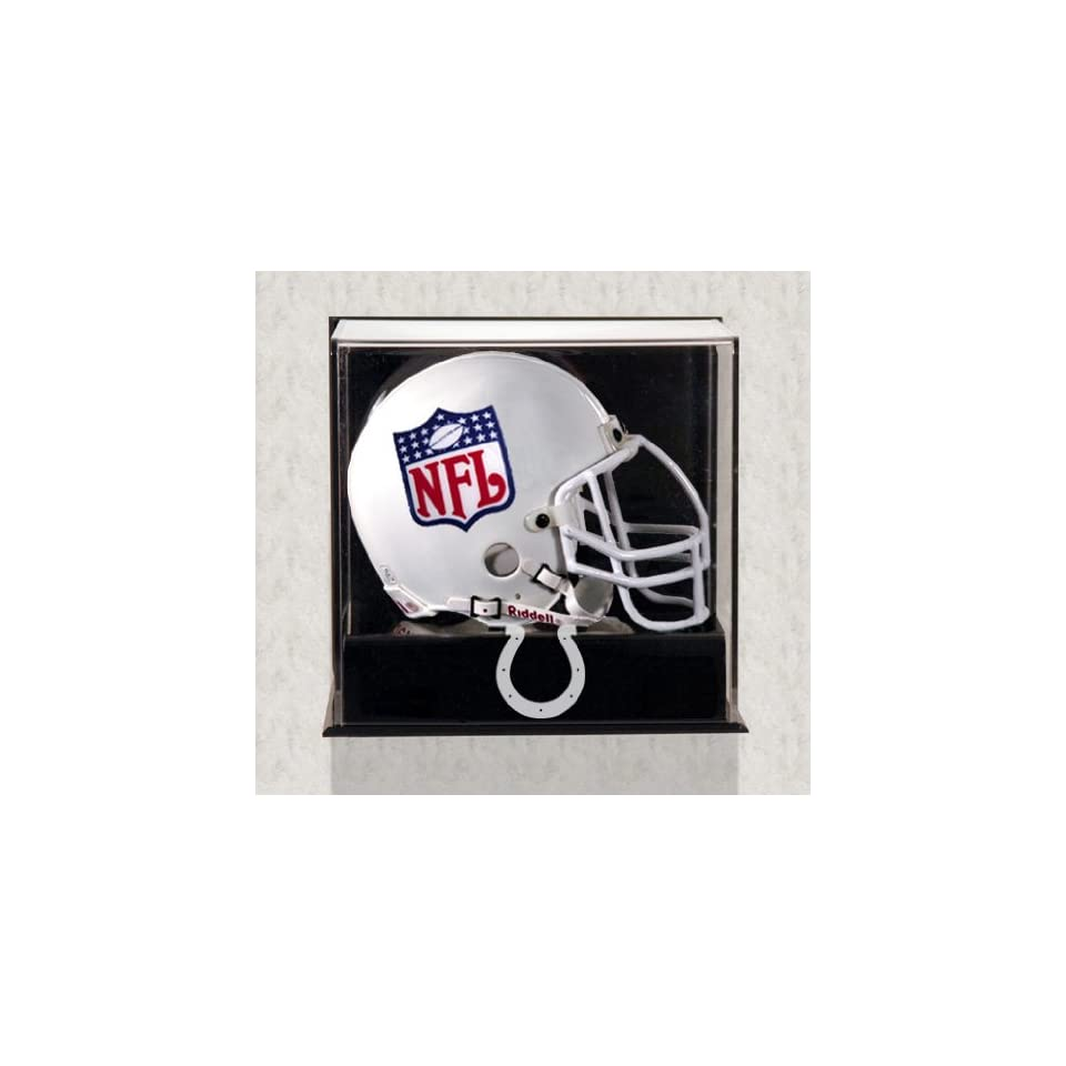 Indianapolis Colts Mini Helmet Display Case   Wall Mounted