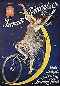 Vintage French Advertising Poster. Fernand Clement & Co Bicycle