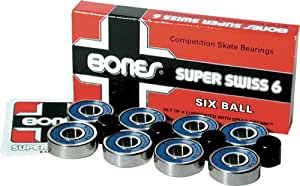 Bones Super Swiss 6 Competition Skate Bearings