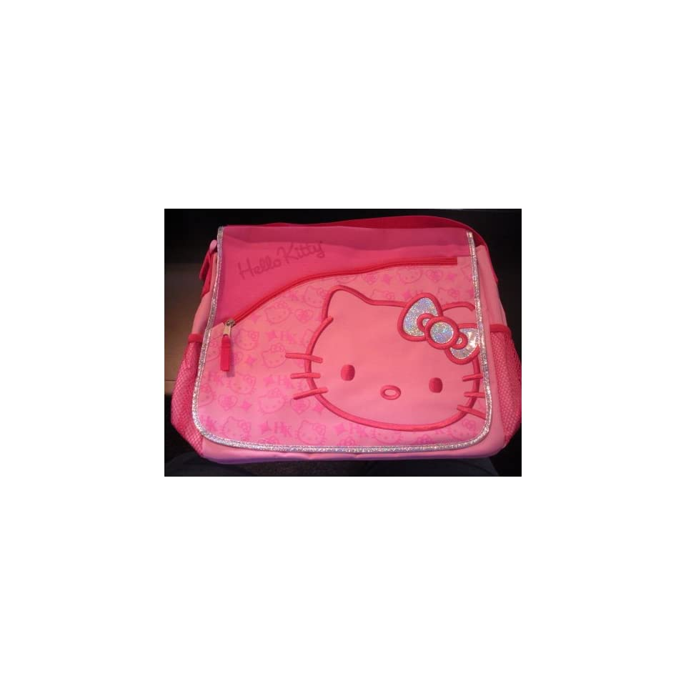 Sanrio HELLO KITTY 14 PINK SILVER MESSENGER BAG