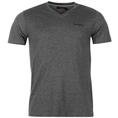 pierre-cardin-herren-v-ausschnitt-t-shirt-kurzarm-freizeit-tee-top-baumwolle-m