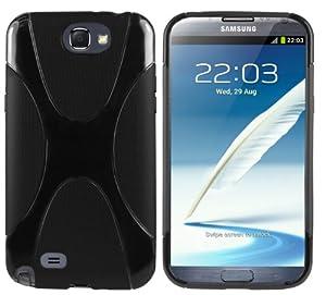mumbi X-TPU Silikon Schutzhülle für Samsung Galaxy Note 2 schwarz