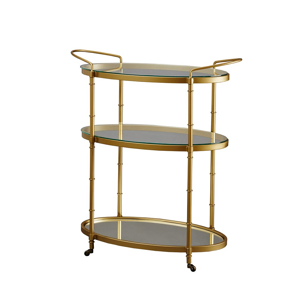 Madison Park Signature Lauren Bar Cart Antique Gold See below 2