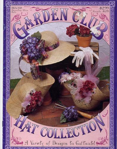 Garden club hat collection decorating straw hats amazon for Garden club book by blackbird designs