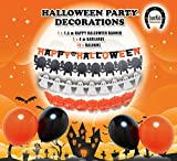 EverKid Happy Halloween Party Decoration Set 1 Banner 3 Garlands 10 Balloons
