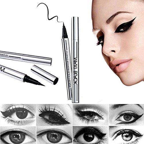 Trillycoler Liner Stylo Liquide Maquillage de Waterproof Eyeliner Crayon (Noir 1)