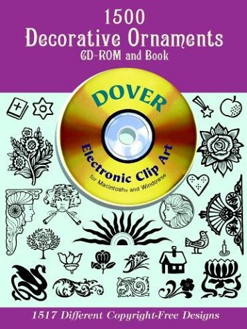1500 Decorative Ornaments CD ROM and Book