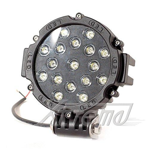 "Xtreme® 7"" Inch 51Watt High Power Led Work Lamp Offroad Light For Truck, 4Wd, Atv, Utv, Bike, Motorcycle (51W Round, Spot Light)"