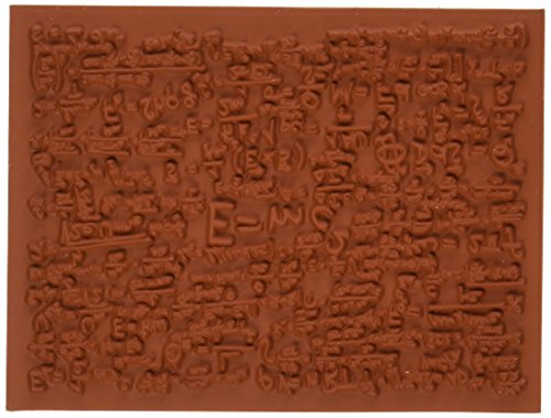Deep Red Stamps Quantum Background Rubber Stamp - 1