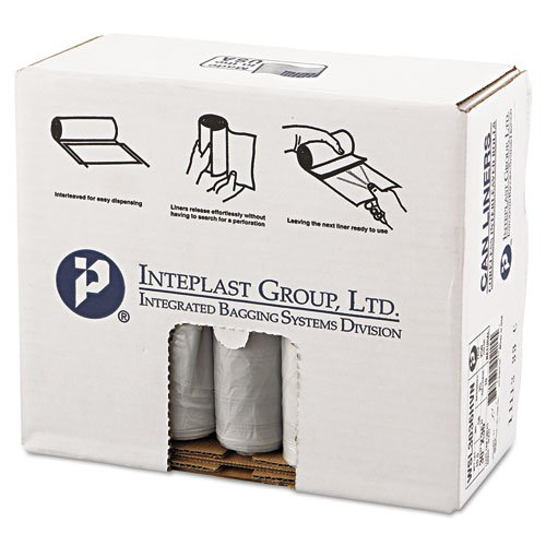 Inteplast Group Low-Density Can Liner, 30 X 36, 30Gal, .58Mil, Clear, 50/Roll, 10 Rolls/Carton