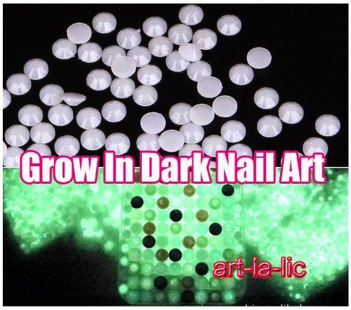 500pc Pink 5.0 mm. Luminous Resin rhiinestones Geems Glow In Dark for Naiil Arrt tiips Decorration